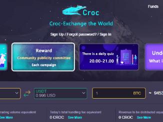 Croc Exchange Airdrop - Earn Free $160 Of CROC Tokens (100,000 CROC)