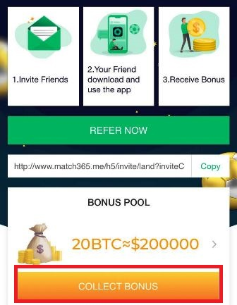 Match365 Airdrop - Earn Free Daily Bitcoin And 100 MBC Tokens
