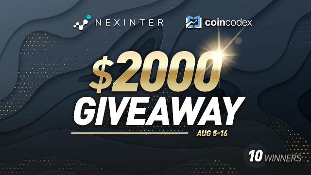Earn Bitcoin (BTC) - Nexinter Giveaway $2,000 Of Bitcoin