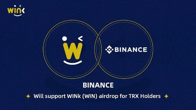 WINk Airdrop WIN Token For TRON (TRX) Holders On Binance
