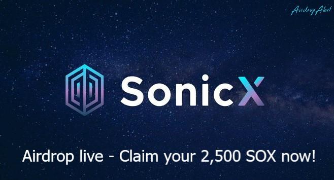 SonicEX Exchange Airdrop SOX Token - Receive 2,500 SOX Tokens Free