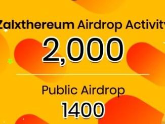Cashpayz Exchange Airdrop ZALX Token - Get ZALX Tokens Free