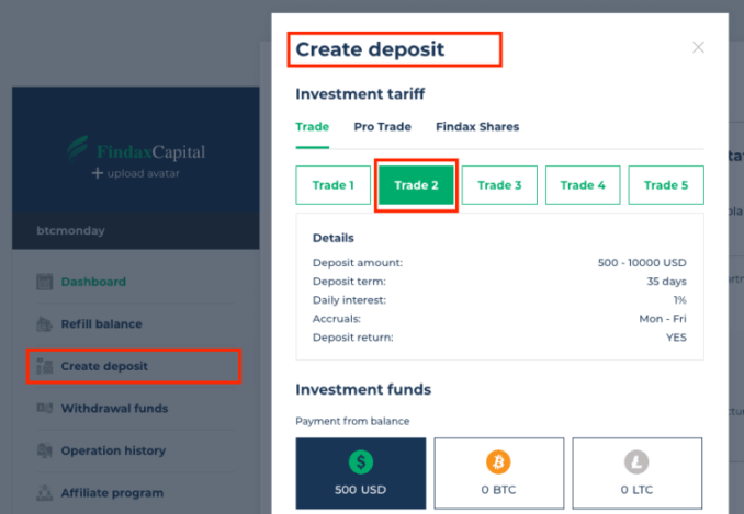 Findax Capital Hyip Site Review - Earn 0.5% - 3% Of Profits Daily