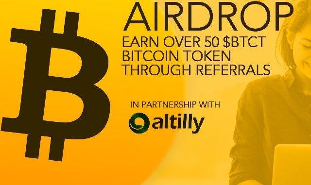 Bitcoin Token Airdrop - Receive $50 In BTCT Free