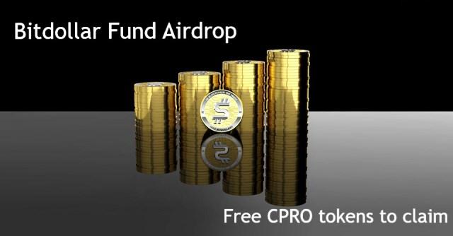 Bitdollar Airdrop CPRO Token - Earn $40 Of CPRO Tokens Free