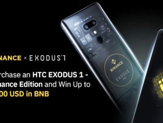 Receive Up To $100 In BNB As Purchase An HTC EXODUS 1 - Binance Edition Cryptophone