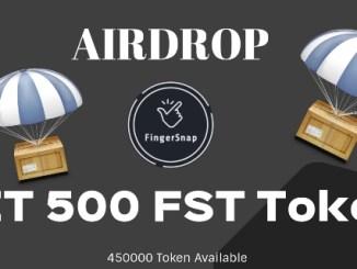 FingerSnap Airdrop FST Token - Earn $12 Of FST Tokens Free