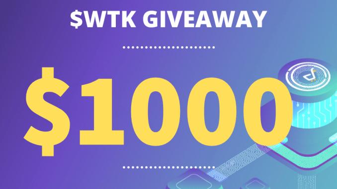 Wadz Airdrop WTK Token - Win $100 Of WTK Tokens Free