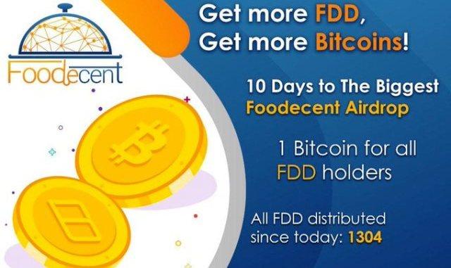 Foodecent Airdrop Bitcoin And FDD Token - Receive Bitcoin And FDD Token Free