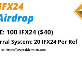 IFX24 Exchange Airdrop - Earn $40 Of IFX24 Tokens Free