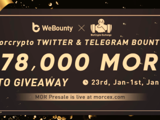 MorCrypto Exchange Bounty - 78,000 MOR Tokens Give Away