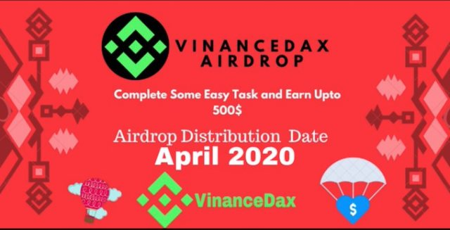 VinanceDax Airdrop VND Token - Earn Up To $500 Of VND Tokens Free