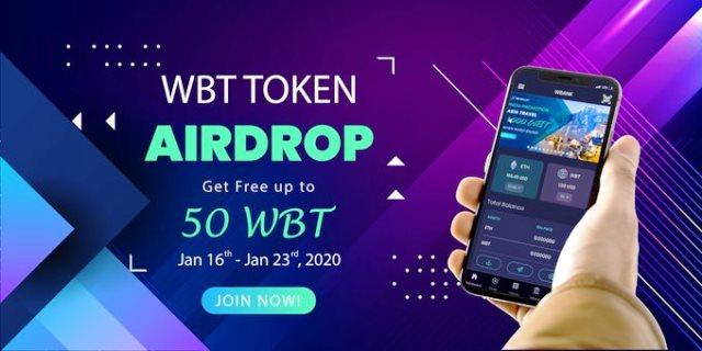 WBank Wallet Airdrop WBT - Earn $7.5 Of WBT Free