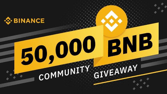 Binance Giveaways 50,000 BNB To Community