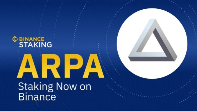 Binance Supported ARPA Staking - Hold ARPA To Earn Rewards