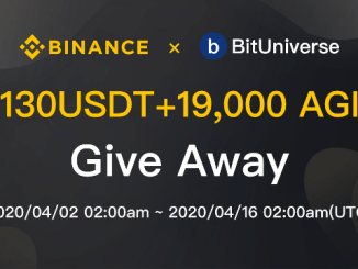 Binance And BitUniverse Giveaway USDT And AGI Token
