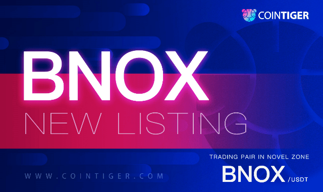 BNOX Airdrop For CoinTiger Users - Receive 2 BNOX Tokens Free