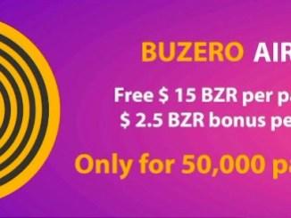 Buzero Airdrop Round 3 - Get $15 Of BZR Tokens Free