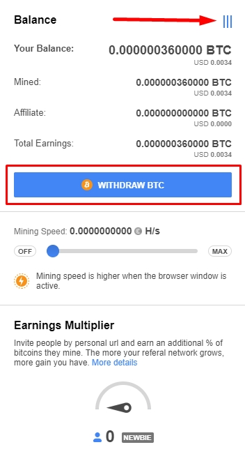 Withdraw Bitcoin From CryptoTab
