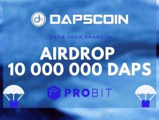 DAPS Airdrop On ProBit - Get 10,000 DAPS Coins Free