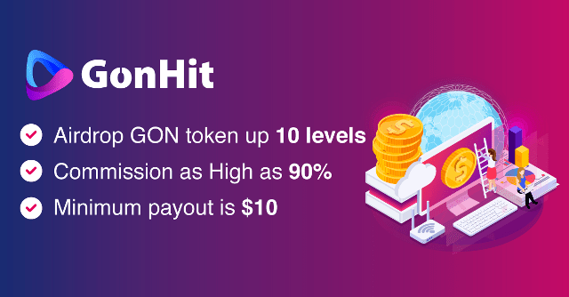GonHit Airdrop Campaign - Get 1,000 GON Tokens Free
