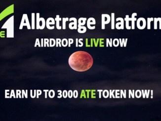 Albetrage Airdrop - Get $150 Of ATE Tokens Free