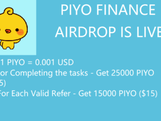 PIYO Finance Airdrop Campaign - Earn Free $25 Of PIYO Tokens