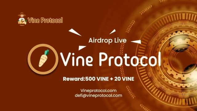 Vine Protocol Crypto Airdrop - Earn Free $250 Of VINE Tokens