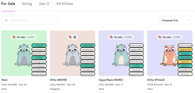 rare cryptokitties