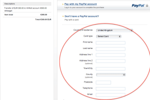بمجرد الضغط على هذا الرابط يمكنك ادخال بطاقة الإئتمان الخاصة بك وإيداع الاموال على VirWox .