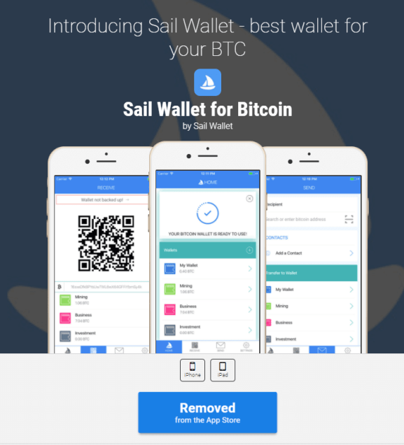 This fake wallet asked users to deposit money or Bitcoin before stealing both via a backdoor.