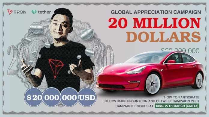 TRON's CEO Justin Sun's Tesla Giveaway Completed: New Evidence Reveals Awfully Biased Draw