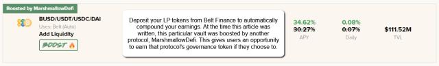 Beefy Finance Belt Vault