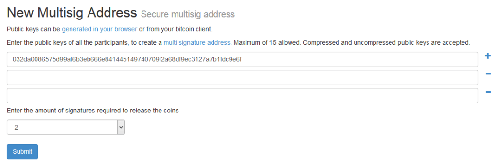 Mult-Sig Address Creation Tool