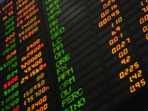 money-transfer-stock-board