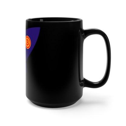 Bitcoin Rocket Black Drinks Mug