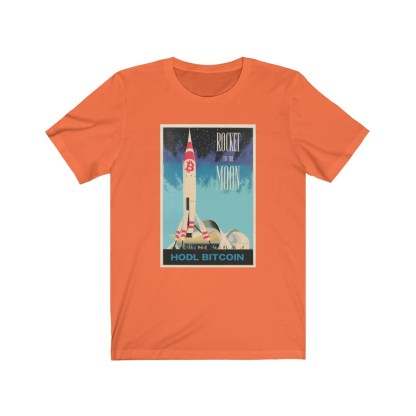 Rocket To The Moon Bitcoin T-Shirt