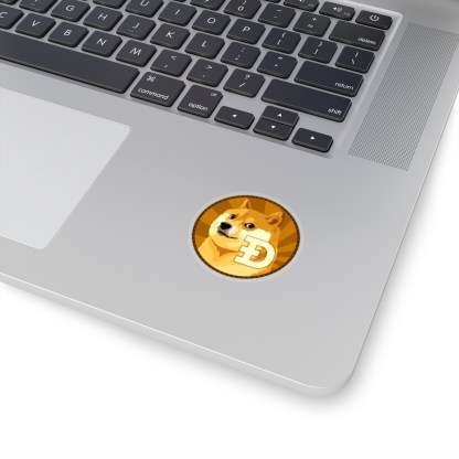 Dogecoin Kiss-cut Sticker