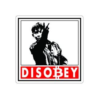 Disobey Bitcoin Crypto Stickers