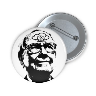 Warren Buffett Bitcoin Pin