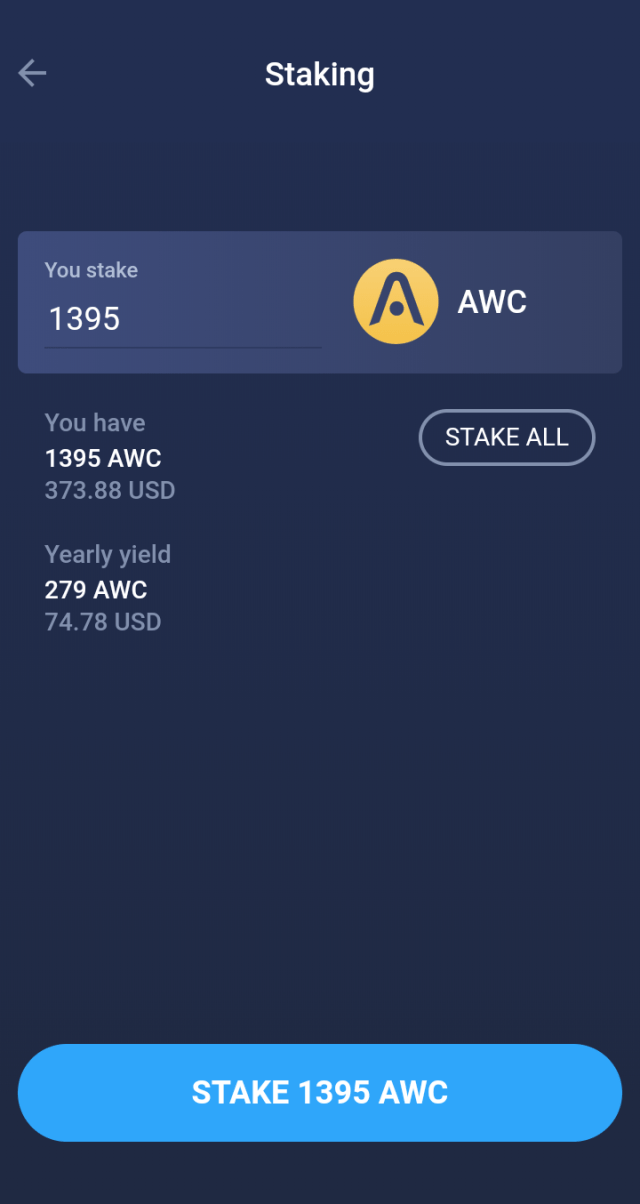 Atomic Wallet Staking