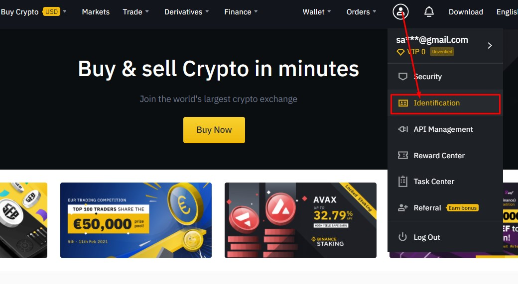 Binance ID verification