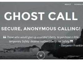 Ghost Secure предоставляет анонимный телефонный сервис.