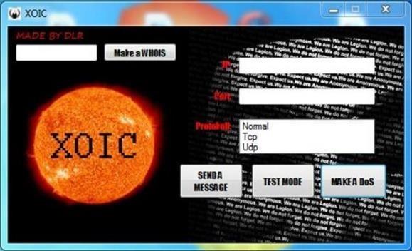 Атака сервера XOIC DDOS