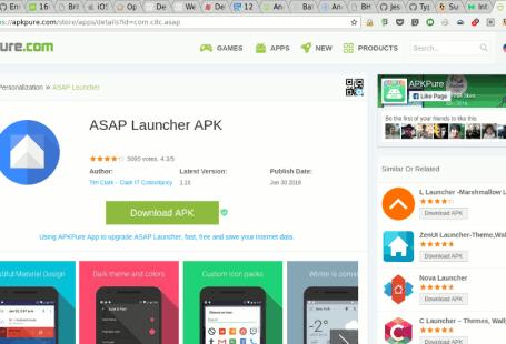 Страница ASAP Launcher на APKPure.com