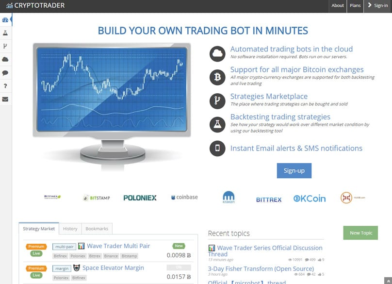 Cryptotrader Automated Trading Bot