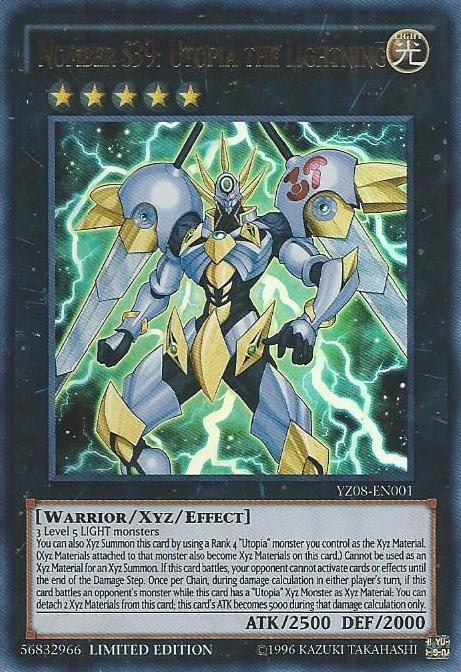 Number S39: Utopia the Lightning - YZ08-EN001 - Ultra Rare ...