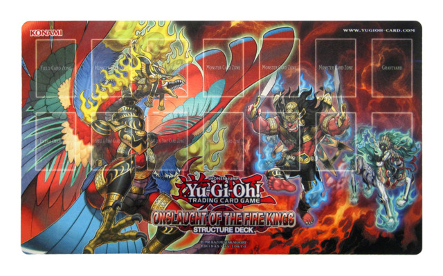 Yu-Gi-Oh Onslaught of the Fire Kings Playmat - TCG Accessories & Supplies »  Playmats - The Deck Box