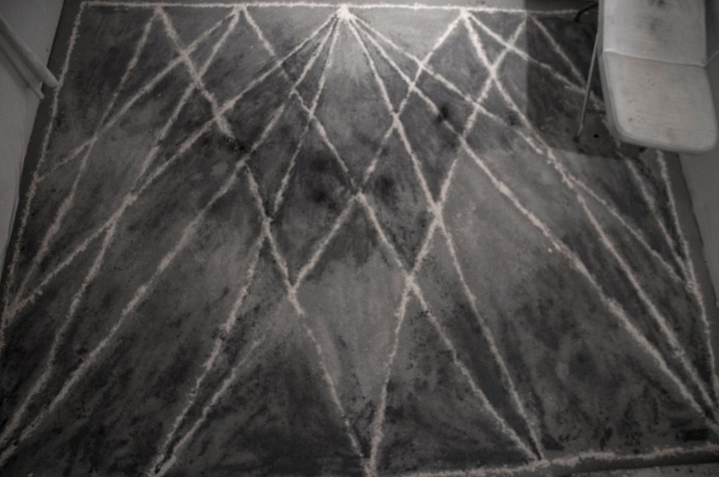 Self Hypnosis Floor Drawing (view from above)