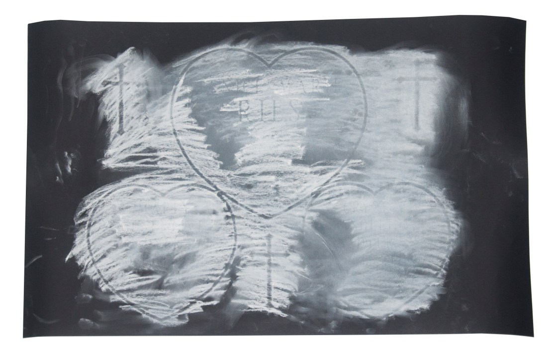 'Beyond the Grave' by Crystal Dyer Chalk Rubbing of Tombstone
